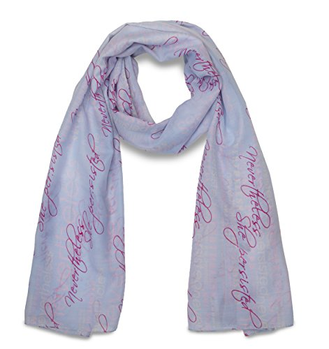 Nevertheless She Persisted Blue and Pink Fashion Scarf - Soft Lightweight, Great gift!
