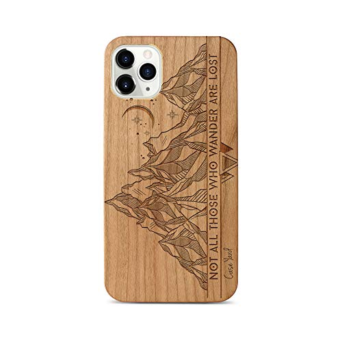 iPhone 11 Pro Max Case by Case Yard Fit for iPhone 11 Pro Max 6.5-Inch [ 2019 Release ] Shock-Absorption iPhone 11 Pro Max Phone Cover Cherry Wood iPhone 11 Pro Max Cases Tribal Mountains