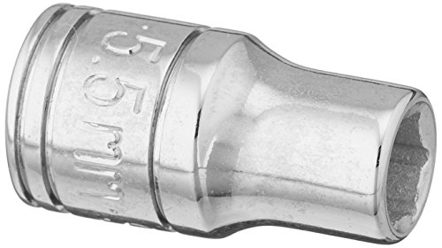 SK Professional Tools 40703 1/4 in. Drive 6-Point Metric Standard Chrome Socket - 5.5 mm, Cold Forged Steel Socket with SuperKrome Finish, Made in USA