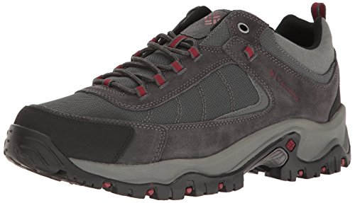 Columbia Men's Granite Ridge Hiking Shoe, Dark Grey, Red Element, 7 D ()