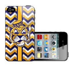 LSU Mike the Tiger With Gold Hat iPhone 4 4s Case Hard Back Case Cover