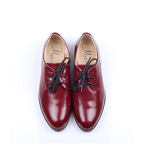 Women%27s+Oxford+Patent+Faux+Leather+Dress+Shoes+%28U6.5%2837%3D235MM%29%2C+Red%29