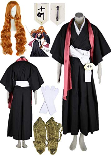 YOUYI Death Bleach Matsumoto Rangiku Halloween Cosplay Costume Full Suit Halloween (Female L) Black]()