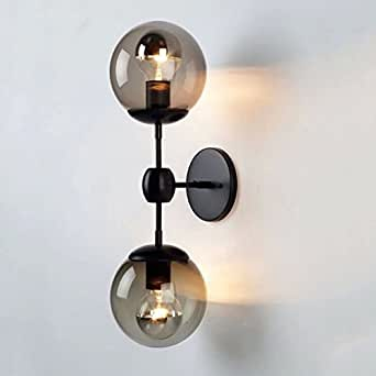 Vintage Wall Lights Double : Sanyi Vintage Wall Light Fixture Industrial 2-Light Wall Sconce Edison Lamp Retro Metal Double ...