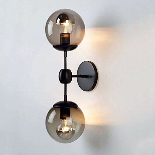 Sanyi Old-fashioned Wall Light Fixture Industrial 2-Light Wall Sconce Edison Lamp Retro Metal Double Lights Exasperate Retro Lighting Fixture Luxury Wall Lamp (light with no bulb)