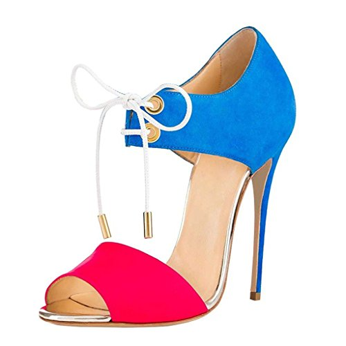 EDEFS - Zapatos con tacón Mujer Azul