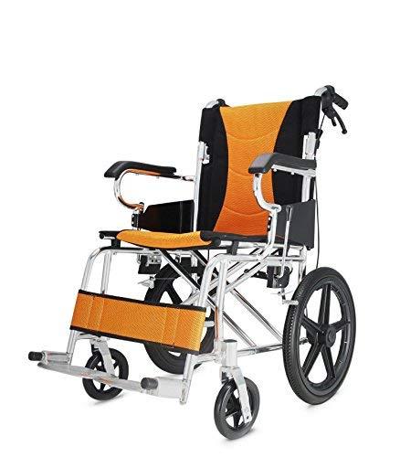 JAKROO Silla de Ruedas médica - Asiento de Aluminio Plegable, Carro de Caballos deshabilitado, Carro móvil avanzado para bebés: Amazon.es: Hogar