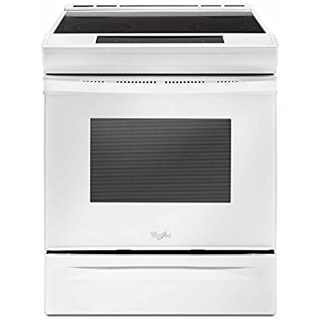 Amazoncom Whirlpool Wee510s0fw 48 Cu Ft Slide In Smooth Top