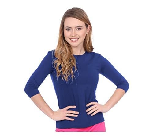 - Kosher Casual Women's Modest Swim & Running/Exercise 3/4 Sleeve Shirt Large Galaxy Blue