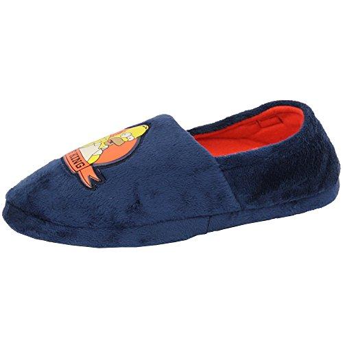 Herren Hausschuhe Homer Simpson Star Wars Minion Pantoffeln Sandalen Ohne Bügel Gepolstert Duff Neuheit Marineblau - SIMDUFF