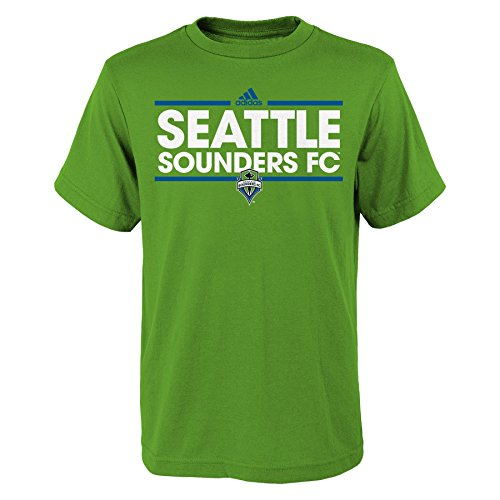 fan products of MLS Seattle Sounders FC Boys -Dassler Short sleeve Tee, Rave Green, Large (14-16)