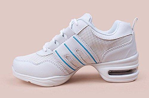 Aptitud Danza La Moderna Baile Movimiento De Zapatos Blanco Jazz z6U0qSzw