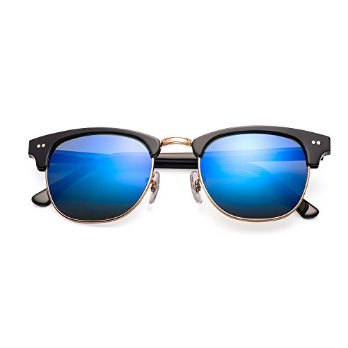 Carfia CA5109 Semi Rimless Non-Polarized Sunglasses for Women Men, 100% UV400 Protection by Carfia