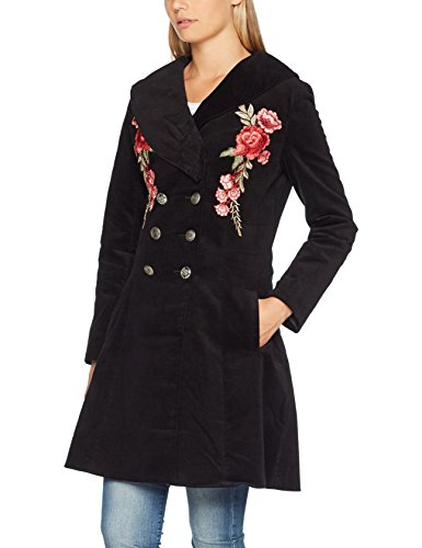 black A Black Coat Donna Browns Cappotto Embroidered Joe Elegant q0ppY8