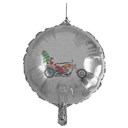 - Mylar Balloon Holiday Biker Santa on his Motorcycle / Chopper
