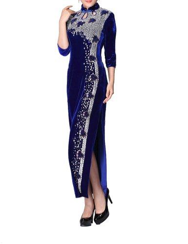 Luxurioes Samt Cheongsam Qipao Abend Hochzeit Kleid - Kostenlos Auftragsfertigen #118 - FREIE FRACHT jXk6EIb