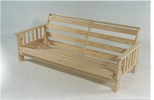 Sleep Concepts Mattress Futon Factory Amish Rustics: Pine Futon Frame