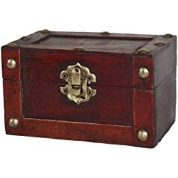 Vintiquewise(TM Mini Treasure Chest, Small