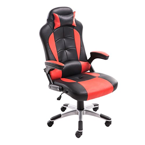 41STAfE9OjL - Homgrace Office Chair Gaming Racing Chair, Ergonomic Executive Home Office Racing Style Swivel Chair with High Back.