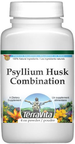 Psyllium Husk Combination Powder - Psyllium, Hibiscus and Licorice (4 oz, ZIN: 512570) - 2 Pack - Psyllium Herbal Combination Powder
