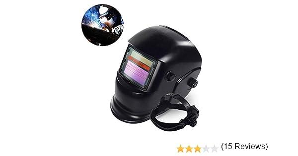 E-future Casco de Soldadura Automática,Careta Soldar Electronica de Oscurecimiento Máscara del Automóvil Rango de Sombra Ajustable 4/9-13 para ARC TIG Mig ...