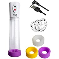 Electric Mens High Vacuum Penis Enlargement Pump Air Pressure Setting Device With  Extra Sleeves