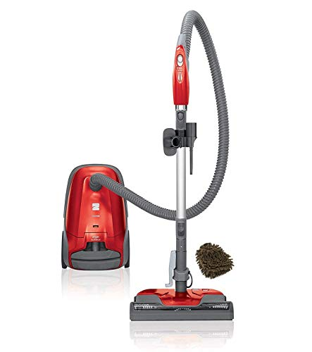 Kenmore 400 Series 81414 Vacuum Bagged Canister Cleaner, 02081414 HEPA, Red (Complete Set), with Bonus Premium Microfiber Cleaner Bundle