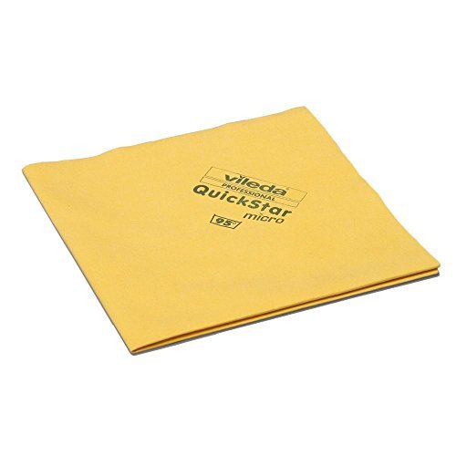 Vileda Professional QuickStar Microfiber Cloth Yellow (pack of 5)