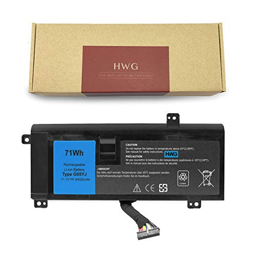 HWG G05YJ Battery (6-Cell) Compatible Dell Alienware 14 A14 M14X R3 R4 Series Dell Alienware 14D-1528 Dell Alienware G05YJ 0G05YJ Y3PN0 8X70T
