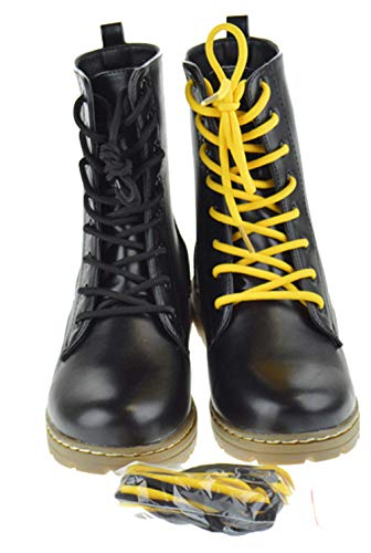 SHOEDEZIGNS Shoe Dezigns Declyn 01 Womens Patent 2 Color Lace Combat Boots Smooth Black 8 (Best Fashion Combat Boots)