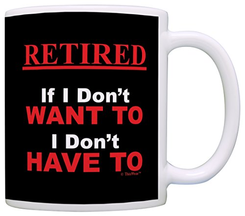 Retirement Funny Retired Coffee Black
