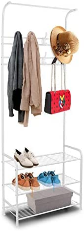 bigzzia Clothing Rack 3-Tier Shoe Rack