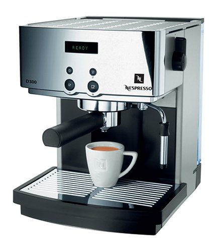 nespresso d300 automatic espresso machine gray and chrome semiautomatic espresso machines. Black Bedroom Furniture Sets. Home Design Ideas