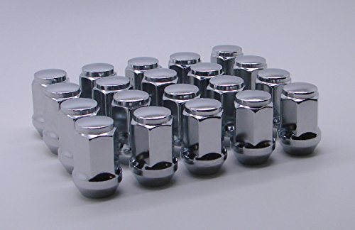 "AccuWheel LNA-12000C5 Chrome Bulge Acorn Wheel Lug Nuts (1/2""-20 Thread Size) 1.4"" Tall - Pack of 20 Lugnuts"