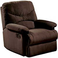 Wall Hugger Microfiber Recliner Adjustable Chair for Living Room (Chocolate)