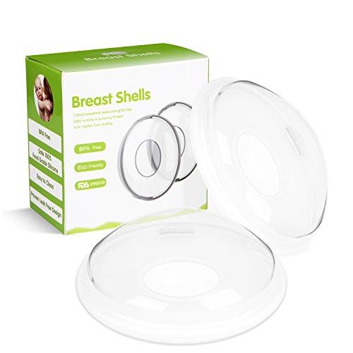 Breast Shells, Moppet Milk Saver for Breastfeeding, Nursing Shield cups – 2 pack, Food Grade Silicone Nipple Shells, Breast Milk Shields Protect Sore Nipples, Collect Breastmilk for Nursing Moms