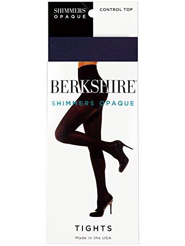 Berkshire Shimmers Semi Sheer Opaque Control Top Tights (Medium/Navy) ()