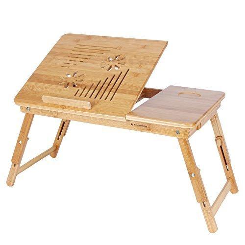 Songmics Neu Laptoptisch Betttisch Notebook Lese Tisch aus Bambus 55 x 35 cm LLD002