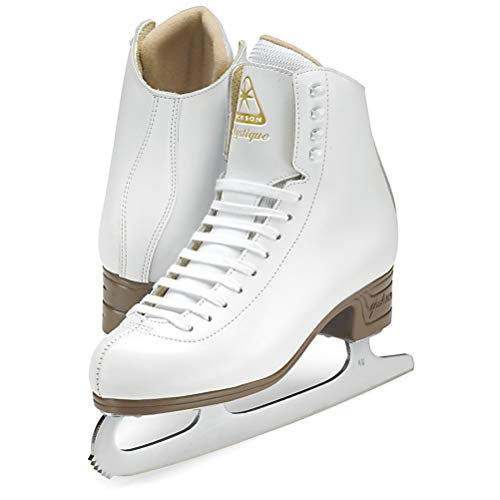 Jackson Ultima JS1491 Mystique Girls Misses Figure Ice Skates/Color: White/Width: Medium/Size: Youth 2