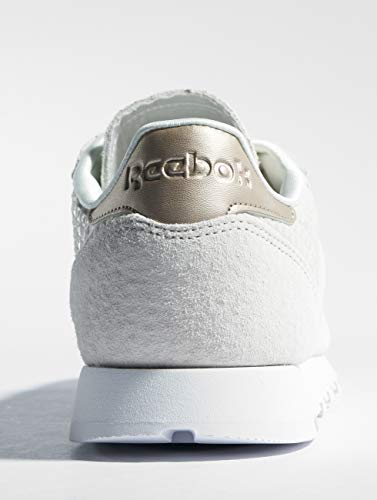 De emb white Chaussures Reebok Cl 0 slee chalk Lthr Multicolore Gymnastique Femme THWU7fw
