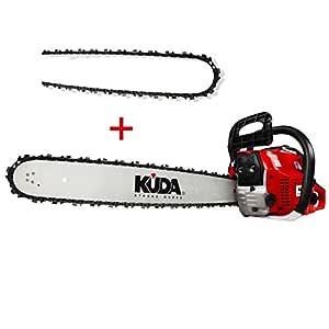 KUDA CN-52 Motosierra de Gasolina, 2 tiempos, 1 cadena extra, roja ...