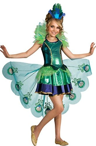 [Mememall Fashion Peacock Tutu Costume Dress Child Girls Deluxe S 4-6 M 8-10 L 12-14] (Deluxe Plush Cow Mascot Costumes)