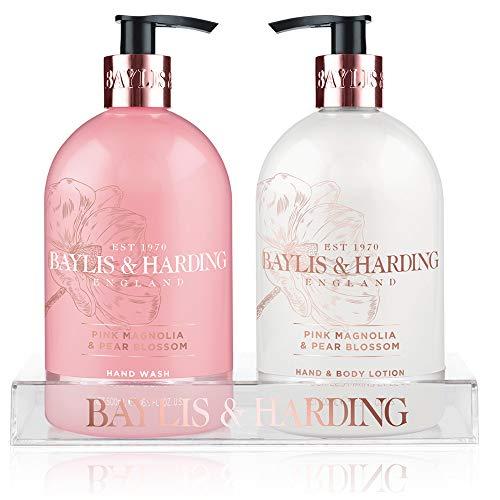 (Baylis & Harding Baylis & harding pink magnolia & pear blossom hand wash and lotion set 16.9 fluid ounce, Pink, 16.899999999999999 Fluid Ounce)