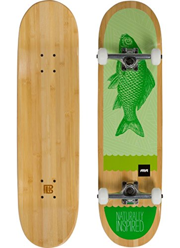 Bambú Skateboards verde peces graphic monopatín completo