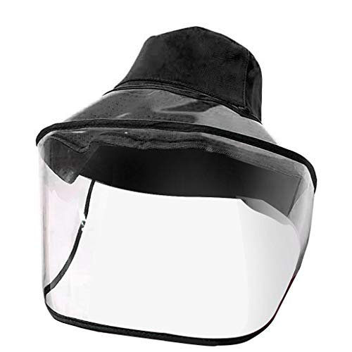 BBesty Full Cover Safety Face Shield Protective Dust Proof Fisherman Hat Face Cover Waterproof Wide Brim Splashing Proof Clear Visor Outdoor Facial Cover