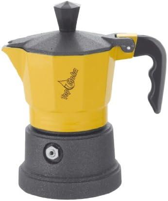 Top Moka Cafetera top01 Amarillo-Negro: Amazon.es: Hogar