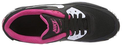 Nike Air Max 90 Mesh (GS), Zapatillas de Gimnasia Para Niñas Negro (Negro (Black / White-Vivid Pink))