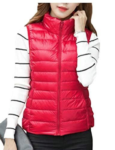 Leggero Cappotto Da Donna Giacca Packable Con Rosso Sicurezza Con Giubbotto Pesce Palla Cappuccio Tasca Esterno dqpwFYa
