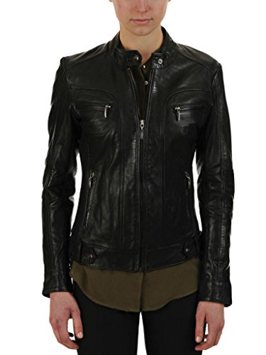 Leather Junction Junction Giacca Nero Nero Leather Leather Donna Giacca Donna C1Cr5wYqx