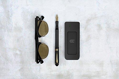 Glyph Atom Black, 1TB SSD, USB-C (3.1, Gen 2), USB 3.0, Compatible with Thunderbolt 3